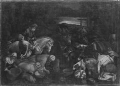 Die Israeliten an der Felsenquelle (Werkstatt)