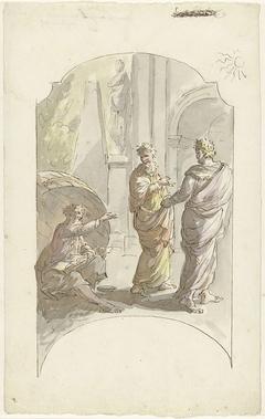 Diogenes vraagt Alexander niet in zijn licht te staan