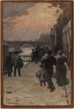 Esquisse pour l'Hôtel de Ville de Paris : Le soir à Paris.