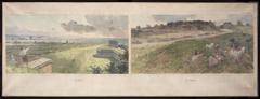 Esquisse pour la mairie de Bagnolet : Deux vues des environs de Bagnolet (le nord et le sud)