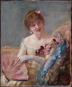 Femme à l'éventail (Portrait de Réjane?)