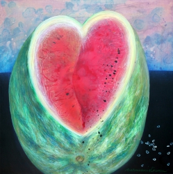 heart with seeds