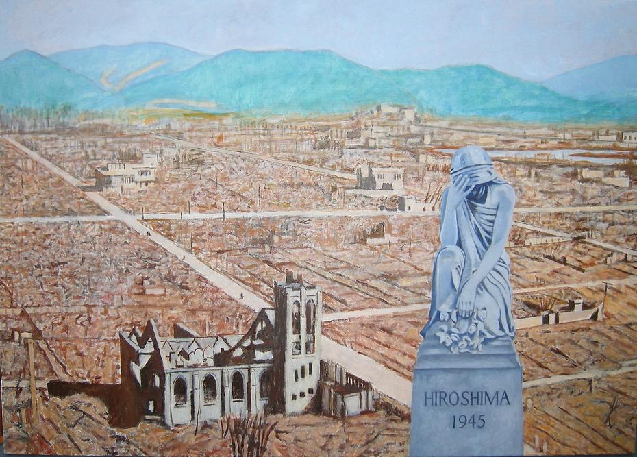 'Hiroshima 1945' (2008). Oil on linen. 100 x 140 cm.