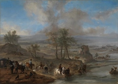 Hunting Party and Fishermen