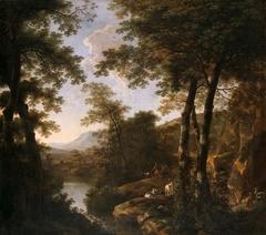 Italian Landscape with Roman Warriors