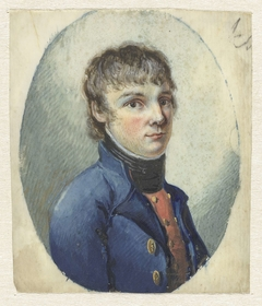 Jongeman in officierskostuum, driekwart naar rechts