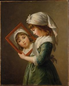 Julie Le Brun (1780–1819) Looking in a Mirror