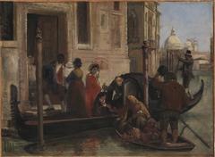 Landing in Venice. In the Distance S. Maria delle Salute