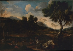 Landscape with a Battle between Two Rams