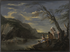 Landscape withBather