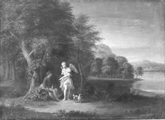 Landschaft mit Tobias und Engel (Umkreis)