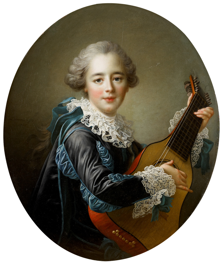 Madame du Barry Playing the Guitar