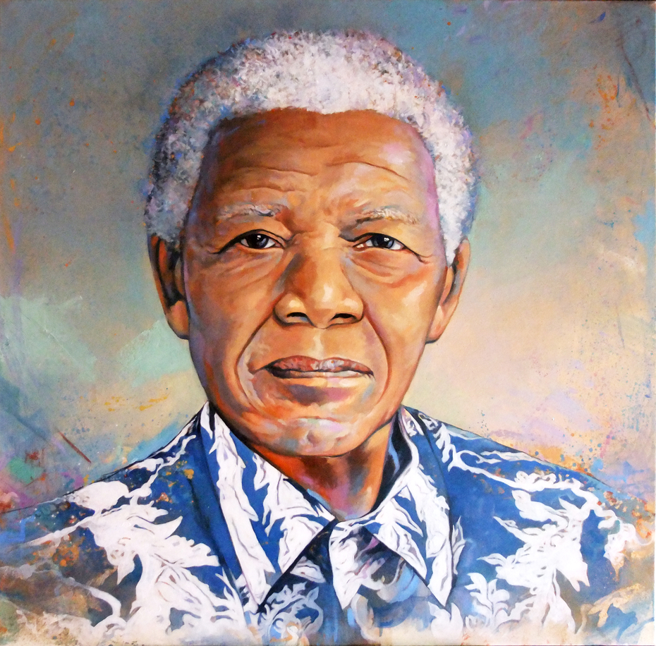 Madiba in blue