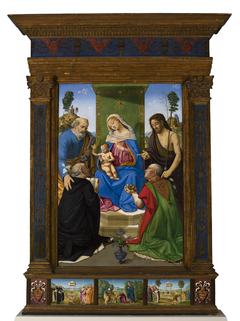 Madonna and Child Enthroned with Sts. Peter, John...