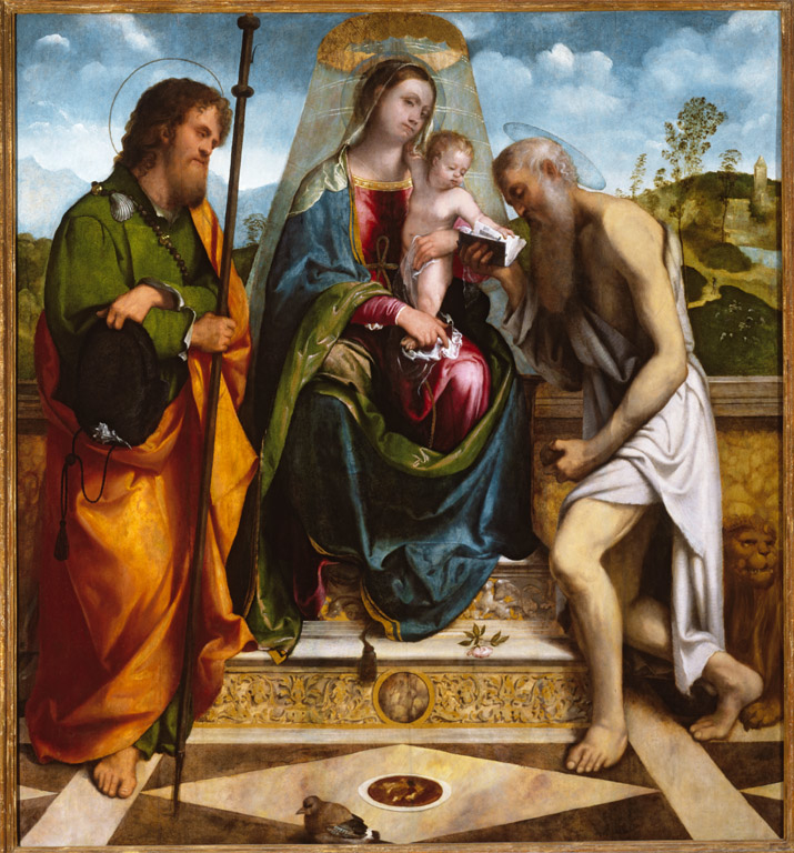 Madonna and Child with Saints James Major and Jerome