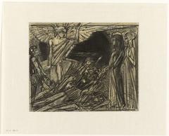 Maria bij het graf door een engel toegesproken