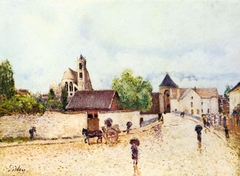 Moret-sur-Loing under the Rain