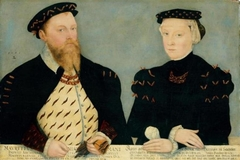 Moritz, Elector of Saxony and his wife Agnes