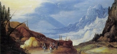 Mountain Landscape with Travelers