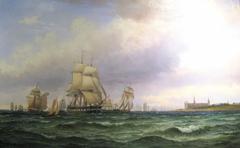 Navy frigate at Kronborg Castle