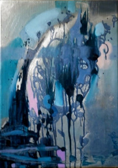 Navyblue Abstract, 2012, oil on canvas by ANNA ZYGMUNT