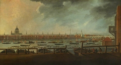 Nelson's funeral procession on the Thames, 8 January 1806