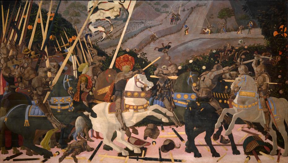 Niccolò Mauruzi da Tolentino at the Battle of San Romano