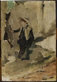 Ojców – Boy against the rocks