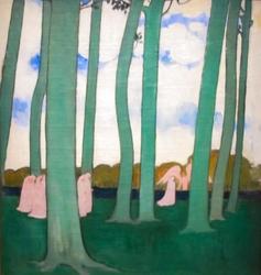 Paysage aux arbres verts