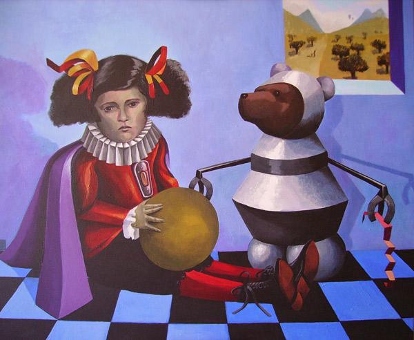 PEQUEÑA INFANTA CON OSITO MECÁNICO