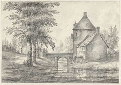 Poortgebouw bij kasteel Zuilenstein bij Amerongen