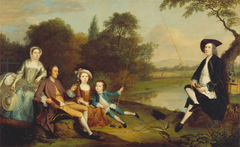 Portrait of a Family, Traditionally Known as the Swaine Family of Fencroft, Cambridgeshire