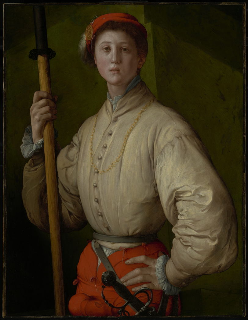 Portrait of a Halberdier (Francesco Guardi?)