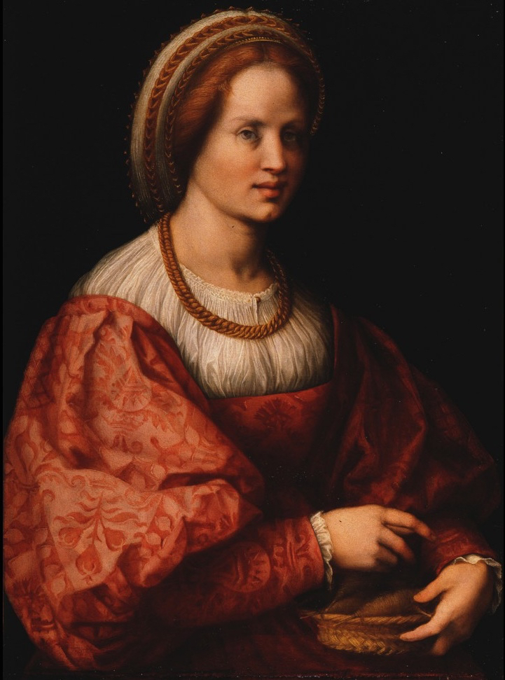 Portrait of a Woman with a Basket of Spindles