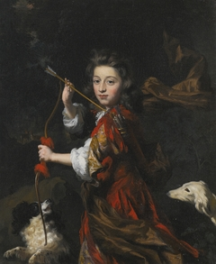 Portrait of a young nobleman as a hunter