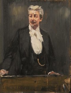 Portrait of Georg Brandes lecturing