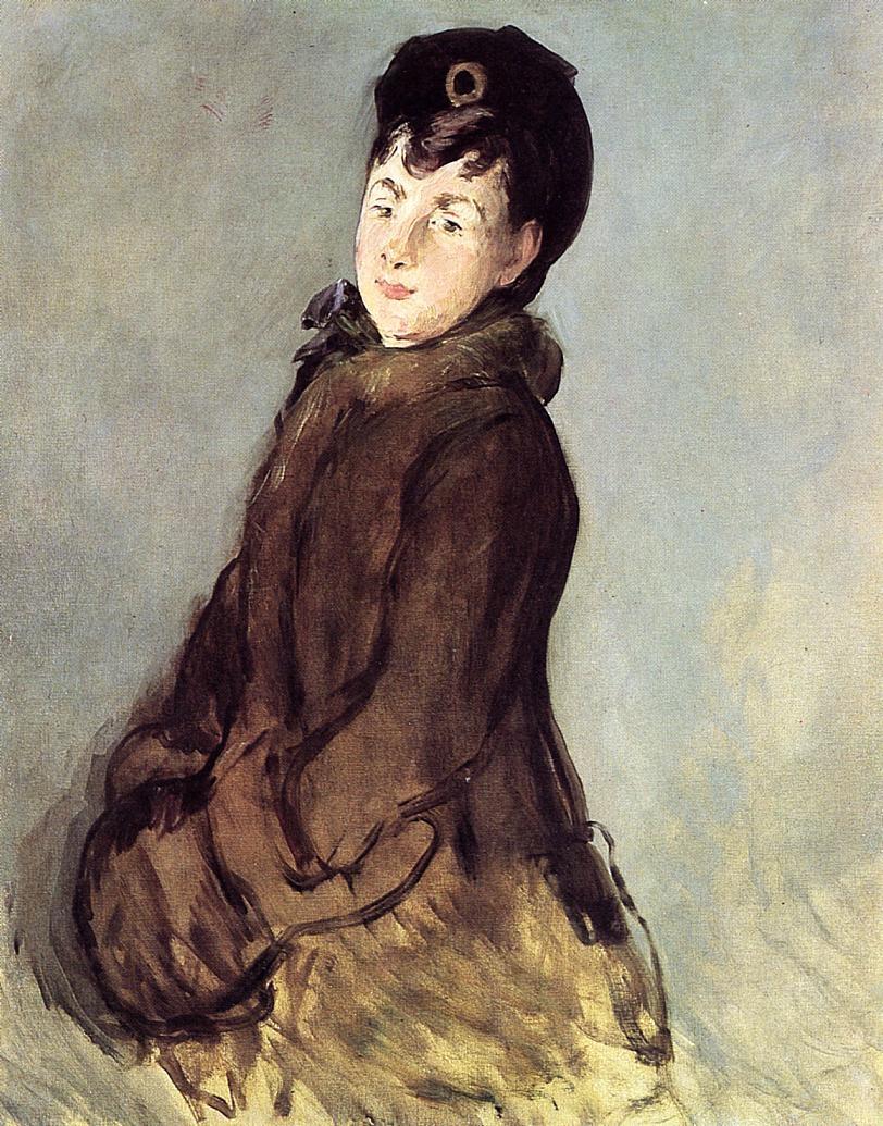 Portrait of Isabelle Lemonnier with a Muff