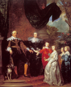 Portrait of Jan VIII (the Younger), count of Nassau-Siegen, with his family