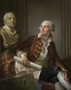 Portrait of man with Bust of Denis Diderot