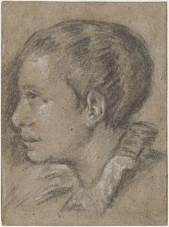 Portret van een jongen, naar links