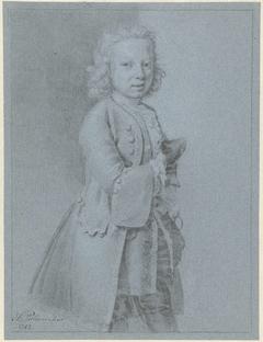 Portret van een staande jongen