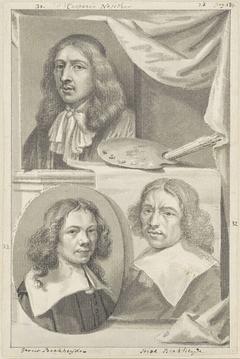 Portretten van Caspar Netscher, Gerrit en Job Berckheyde
