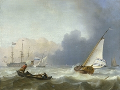 Rough Sea with a Dutch Yacht under Sail