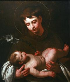 Saint Anthony of Padua holding the Infant Jesus