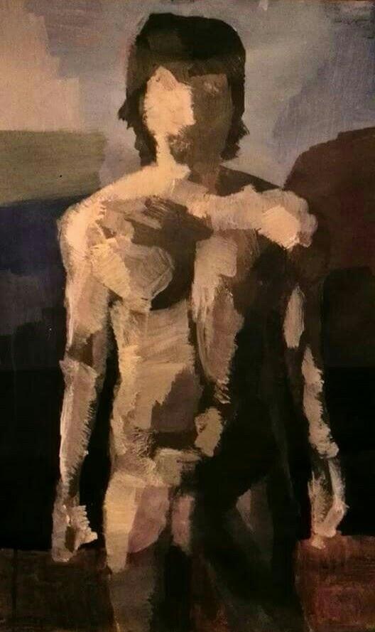 nude self portrait