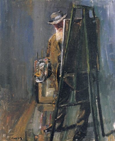 Self-Portrait by the Easel