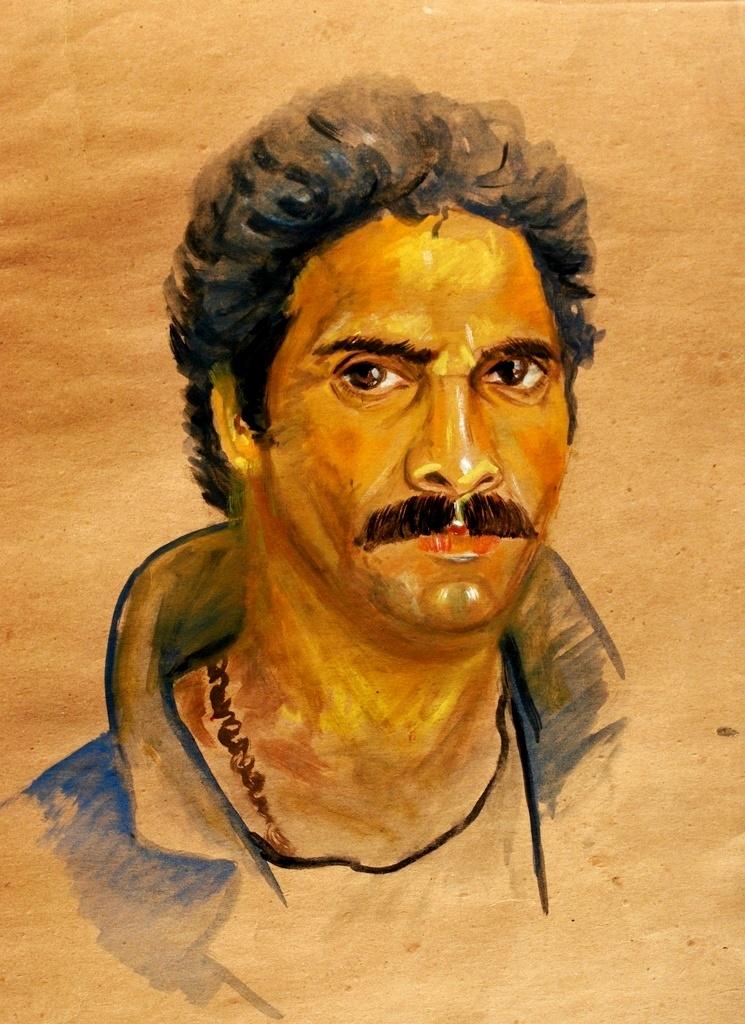Self Portrait water color