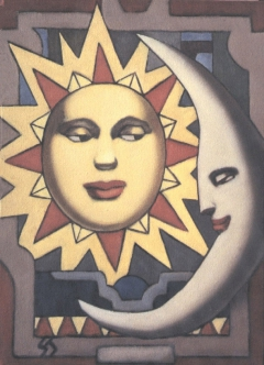 Serie Soles y Lunas. Sol y Luna XI