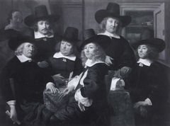 Six Regents and the Beadle of the Nieuw Zijds Institute for the Outdoor Relief of the Poor, Amsterdam, 1657