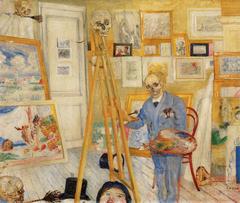 Skeleton Painter in his Studio